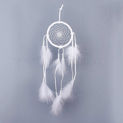 DIY Woven Net/Web with Feather Making SetDIY-WH0101-02C-1