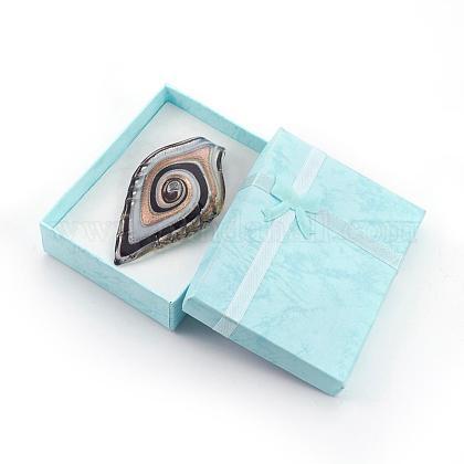 Handmade Silver Foil Glass Big PendantsX-FOIL-X211-2-1