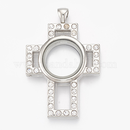 Alloy Magnetic Locket Big Pendants PALLOY-T052-07P-1
