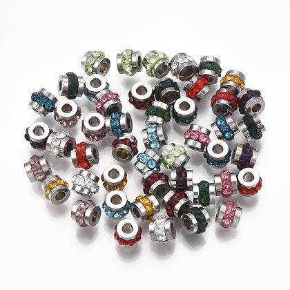 304 Stainless Steel Rhinestone BeadsSTAS-T041-03-1