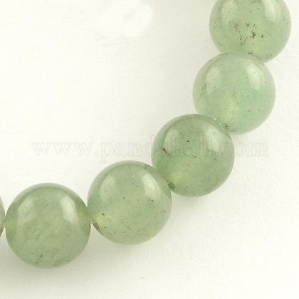 Natural Gemstone Green Aventurine Round Bead StrandsG-R265-8mm-1