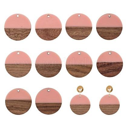 Colgantes de resina y madera Ornaland®RESI-OL0001-07E-1