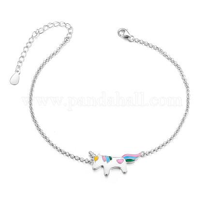 SHEGRACE® 925 Sterling Silver Link BraceletJB551A-1