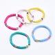 Pulseras hechas a mano de arcilla polimérica Heishi Bead StretchBJEW-JB05090-1
