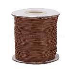Cordón de poliéster encerado coreano, Cuerda de la perla, tierra de siena, 0.5mm, aproximamente 185 yardas / rodillo