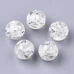 Resin Beads, Imitation Amber, Round, Creamy White, 6mm, Hole: 1mm