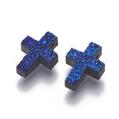 Perlas de resina de piedras preciosas druzy imitaciónRESI-L026-F01-1