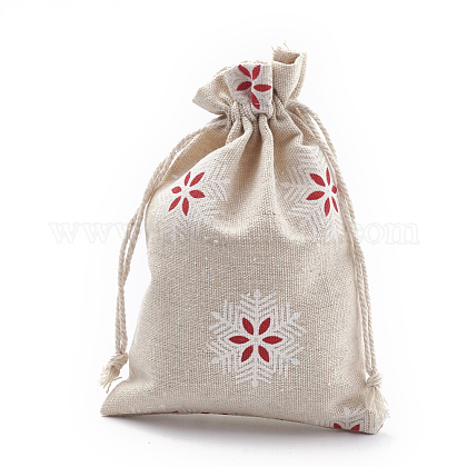 Polycotton(Polyester Cotton) Packing Pouches Drawstring Bags ABAG-S003-02A-1