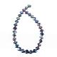 Rombos perlas barrocas naturales perlas keshi perlas hebrasPEAR-R015-06-2