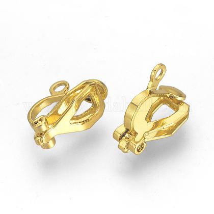 Brass Clip-on Earring FindingsX-KK-R071-11G-1