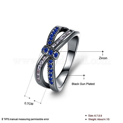 Trendy Brass Cubic Zirconia Finger RingsRJEW-BB27218-B-7-1