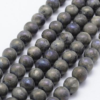 Electroplate Natural Labradorite Beads StrandsG-F518-05-8mm-1