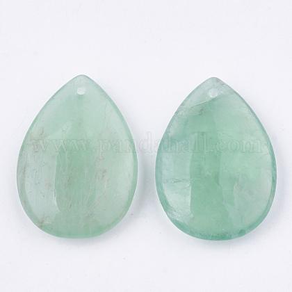 Colgantes de fluorita verde naturalG-S336-72C-1