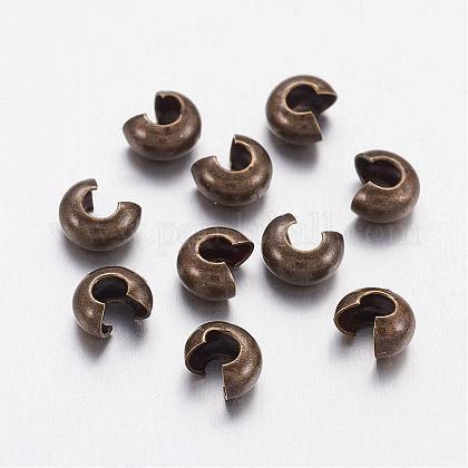 Couvre de perles à écraser en laiton KK-H290-NFAB-NF-1