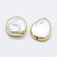 Perlas naturales abalorios de agua dulce cultivadasPEAR-F006-59G-2