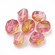 Two Tone Transparent Spray Painted Acrylic BeadsX-ACRP-T005-34A-1