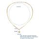 Iron Paperclip Chain NecklacesNJEW-JN02668-2