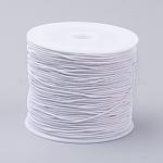 Cordones elásticos, cuerda elástica, para pulseras, producir joyería, blanco, 0.6 mm; 34~37 m / rollo