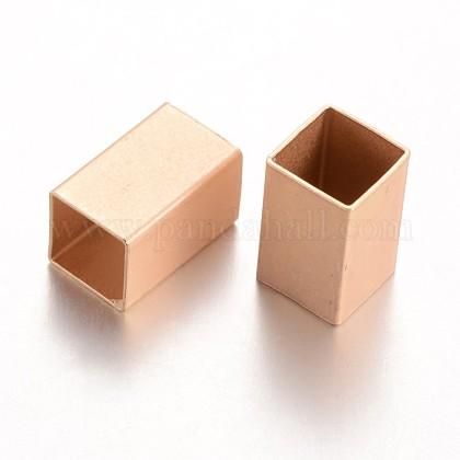 Abalorios de cobre amarillo cuboidesKK-E673-002G-1