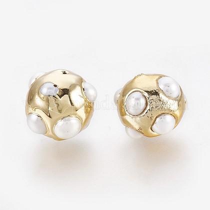 Perlas naturales abalorios de agua dulce cultivadasPEAR-P059-E01-1