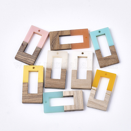 Colgantes de resina y madera de nogalRESI-S358-26-1