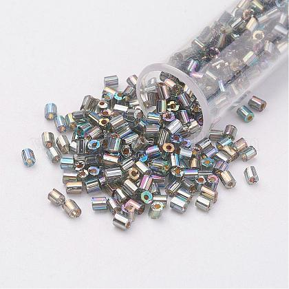 Perlas de vidrio de taladro redondo de dos-agujeros 11/0SEED-G006-2mm-656-1