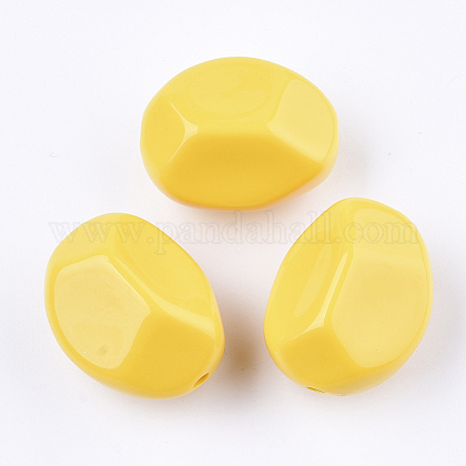 Opaque Acrylic BeadsSACR-T346-09-1