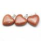 Coeur pendentifs goldstone synthétiqueX-G-Q438-13-2