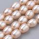 Hebras de perlas de agua dulce cultivadas naturalesPEAR-S012-40B-1