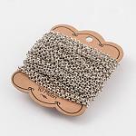 Iron Rolo Chains, Belcher Chain, Soldered, Platinum, 4mm