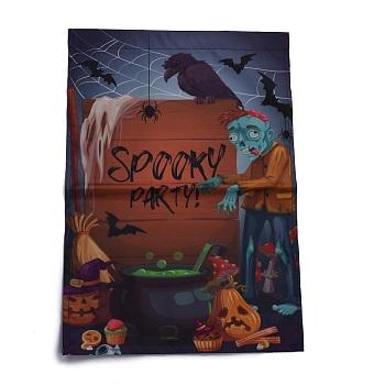 Садовый флаг на хэллоуин, двусторонние флаги из полиэстера, для дома, сада, двора, офиса, украшения, живой мертвец, красочный, 460x320x0.4 мм, отверстие : 18 мм