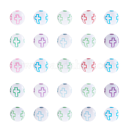 Abalorios de acrílico de estilo artesanalSACR-NB0001-01-1