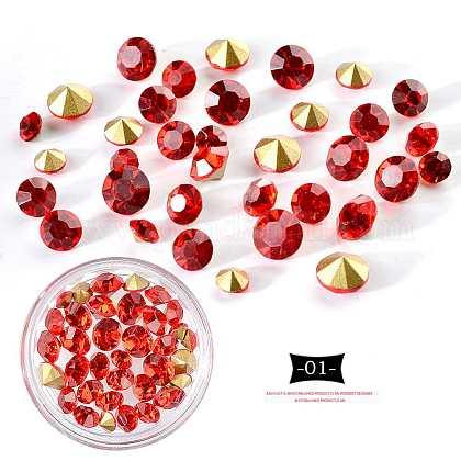 Accesorios de decoración del arte de uñas clavo del diamante artificial de punta acentuadaMRMJ-K001-52-01-1