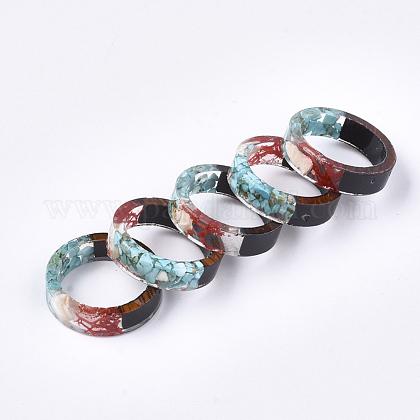 Resina epoxica & anillos de madera de ébanoRJEW-S043-07A-01-1