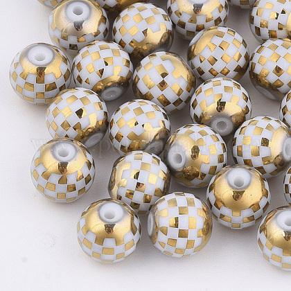 Abalorios de vidrio electroplateEGLA-S178-06F-1