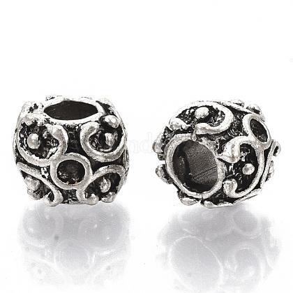 Supports de perles européennes avec strass en alliage de style tibétainTIBE-S320-078AS-LF-1