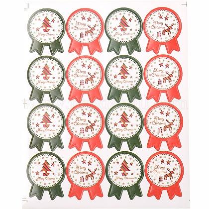 Patrón de la divisa de la etiqueta DIY pegatinas ilustradas parche para la NavidadAJEW-L053-11-1