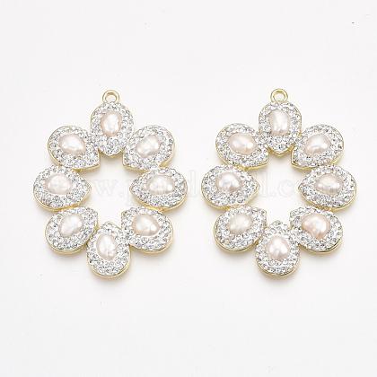 Colgantes grandes de perlas naturales de agua dulceRB-T010-19-1