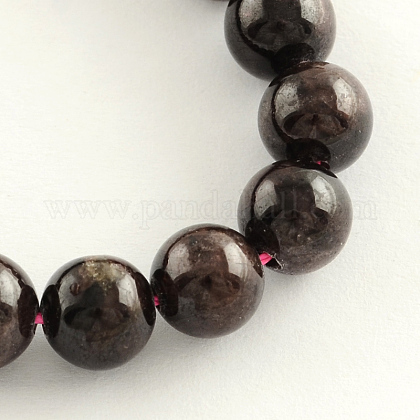 Natural Garnet Gemstone Bead Strands G-R263-6mm-1