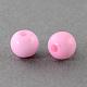 Abalorios de la bola de acrílico sólidos gruesosSACR-R812-4mm-08