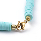 Colliers de foulard en perles de polymère faites main en pâte polymèreNJEW-JN02446-03-3