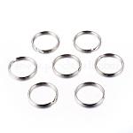 Iron Split Key Rings, Keychain Clasp Findings, Platinum, 25x2mm; Inner Diameter: 22mm