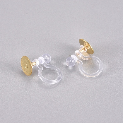 304 Stainless Steel and Plastic Clip-on Earring FindingsSTAS-G225-29G-1