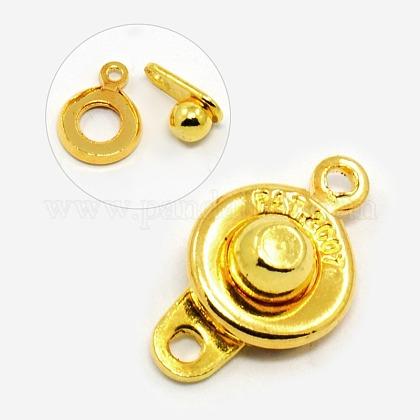 Golden Tone Brass Snap ClaspsX-KK298-G-1