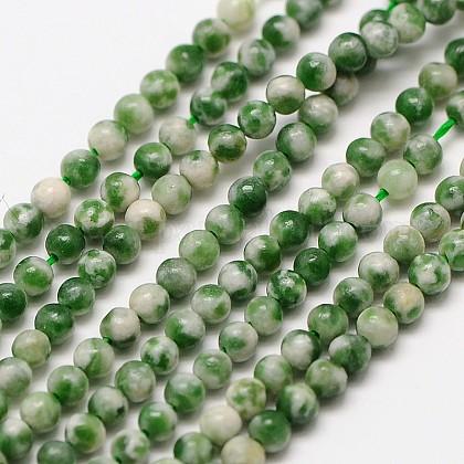 Природных драгоценных камней Цинхай нефрита круглые бусины нитиG-A130-2mm-06-1