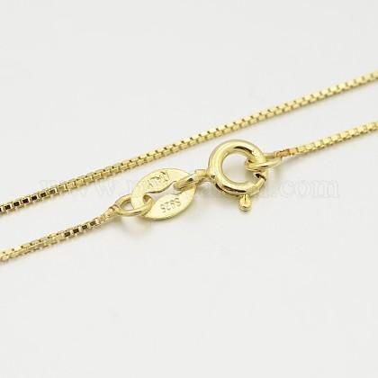 Collares de cadena caja de plata de leySTER-M086-03A-1