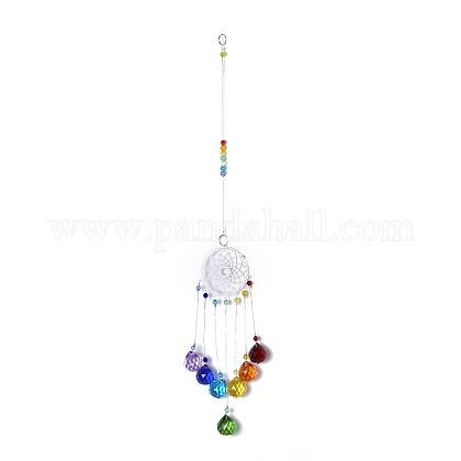Kristalle Kronleuchter Sonnenfänger Prismen Chakra hängen AnhängerAJEW-Q142-04-1
