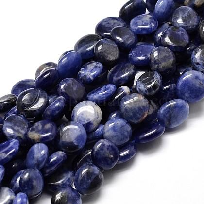 Natural Sodalite Nuggets Beads StrandsG-J336-09-1