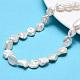 Hebras de perlas keshi de perlas barrocas naturalesPEAR-K004-34-1