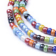 Glass Seed Beads Chain Belts NJEW-C00007-01-3